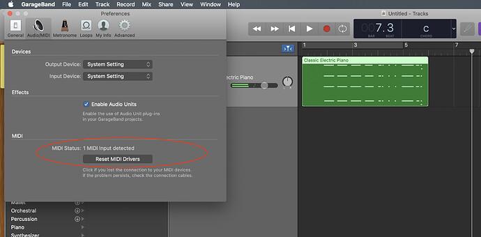 MIDI Settings