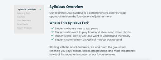 Syllabus Overview Section